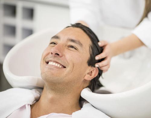 Hair treatment for men at Skulpt Makeup Bar