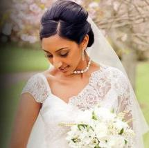 Christian bridal makeup by wedding makeup artist in chennai