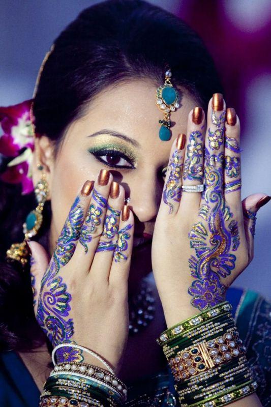 bridal mehandi design by wedding makeup artist