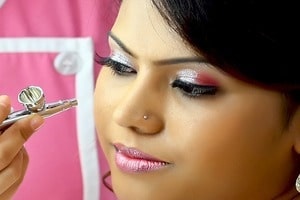 Airbrush makeup for wedding bhy Skulpt makeup artist