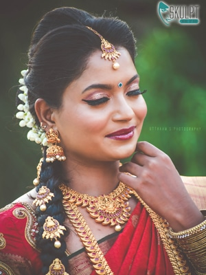 wedding hairstyles for brides by chennai makeup artist